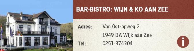 Bar-Bistro- Wijn & Ko aan zee-restaurant