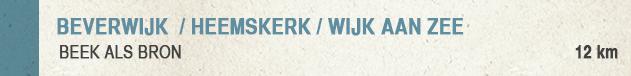 Wandel-Wandelroute Beek Als Bron Beverwijk-Heemskerk-Wijk aan Zee
